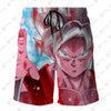 Dragon Ball Z Super Goku Red 3D Printed Shorts