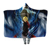Edward & Alphonse in Energy Field Hooded Blanket - Full Metal Alchemist 3D Printed Hooded Blanket