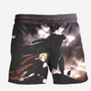 Edward & Roy Mustang in Dark Shorts - Full Metal Alchemist 3D Printed Shorts