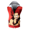 Eijiro Kirishima Red Hooded Tank - My Hero Academia 3D Printed Sleeveless Hoodie