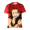 Eijiro Kirishima Red T-Shirt - My Hero Academia 3D Printed T-Shirt