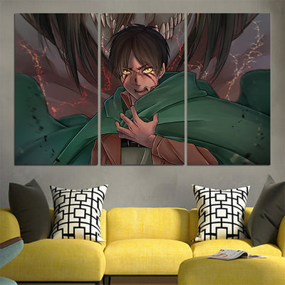 Eren Yaeger Transitioning Canvas - Attack On Titan 3D Printed Canvas