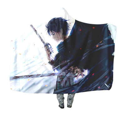 Eren Yeagar Cool - Attack On Titan 3D Printed Hooded Blanket