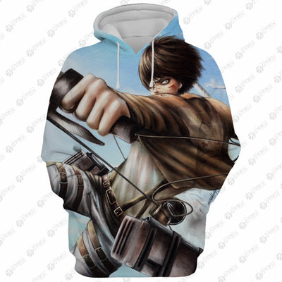 Eren Yeager Armour Titan Hoodie- Attack On Titan 3D Hoodie