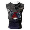 Erza Black Wing Armor Tank Top - Fairy Tail 3D Printed Sleeveless Hoodie