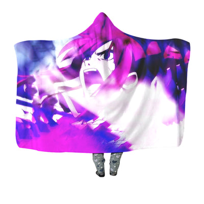 Erza Scarlet Angry Hooded Blanket - Fairy Tail 3D Printed Hooded Blanket