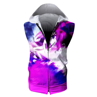 Erza Scarlet Angry Tank Top - Fairy Tail 3D Printed Sleeveless Hoodie