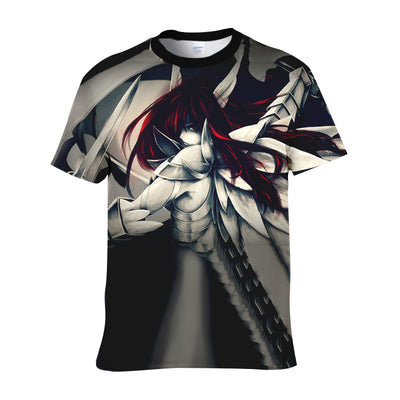 Erza Scarlet Heaven's Wheel Armor - Fairy Tail 3D Shirt Printed T-Shirt