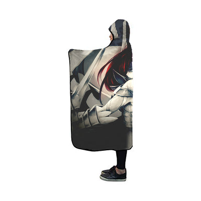 Erza Scarlet Heaven's Wheel Armor Hooded Blanket - Fairy Tail 3D Printed Hooded Blanket