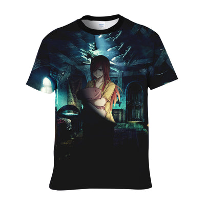 Erza Scarlet Night Suit - Fairy Tail 3D Shirt Printed T-Shirt