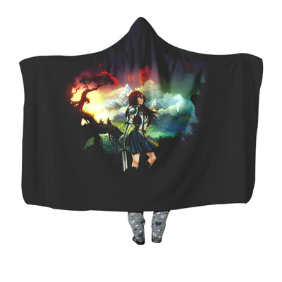 Erza Scarlet Standing Calm Hooded Blanket - Fairy Tail 3D Printed Hooded Blanket