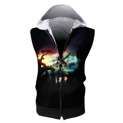 Erza Scarlet Standing Calm Tank Top - Fairy Tail 3D Printed Sleeveless Hoodie