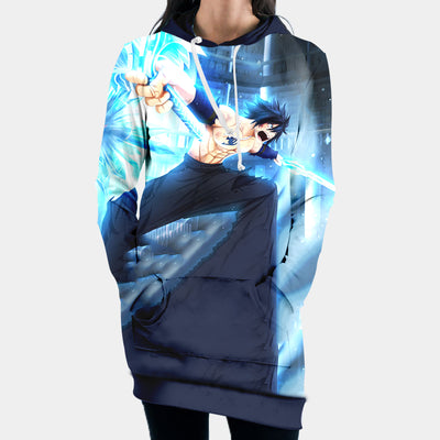 Fairy Tail Gray Ice Hooded Dress - Fairy Tail 3D Printed Hoodie Dress
