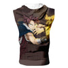 Fairy Tail Natsu's Fire Tank Top - Fairy Tail 3D Printed Sleeveless Hoodie