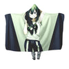 Froppy Fanart Hooded Blanket - My Hero Academia 3D Printed Hooded Blanket