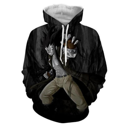 Gajeel Iron Black Magic Dragon Fairy Tail 3d Printed Hoodie
