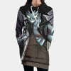 Gajeel Shadow Iron Dragon Hooded Dress - Fairy Tail 3D Printed Hoodie Dress