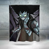 Gajeel Shadow Iron Dragon Shower Curtain - Fairy Tail 3D Printed Shower Curtain