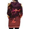 Genryusai Shigekuni Yamamoto Fire Hooded Dress - Bleach 3D Printed Hoodie Dress