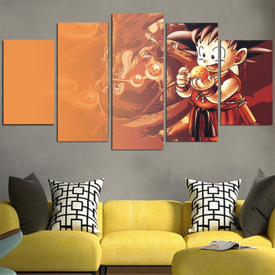 Goku Play With Ball Canvas - 3D Printed DBZ Canvas