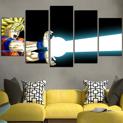 Goku's Kamehameha Wave Canvas - 3D Printed DBZ Canvas