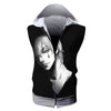 HISOKA in Darkness Hooded Tank- Hunter x Hunter 3D Sleeveless Hoodie