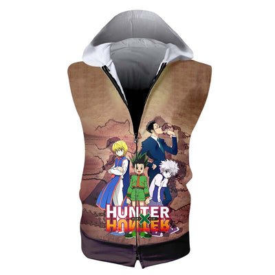 HXH Group Hooded Tank- Hunter x Hunter 3D Sleeveless Hoodie