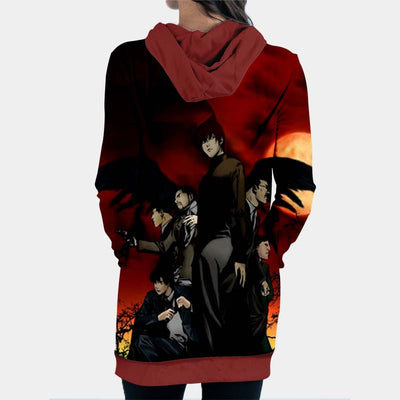 Yagami Light Team Hooded Dress - Death Note 3D Printed Hoodie Dress