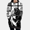 Near Holding A Dice Infront Of Screens Hooded Dress - Death Note 3D Printed Hoodie Dress