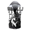 Near Holding A Dice Infront Of Screens Hooded Tank - Death Note 3D Printed Sleeveless Hoodie