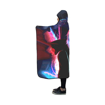 Tokyo Ghoul Hooded Blanket - Kaneki Ken Colorful 3D Printed Hooded Blanket