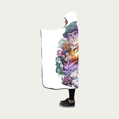 HxH All Characters Blanket - Hunter x Hunter 3D Hooded Blanket