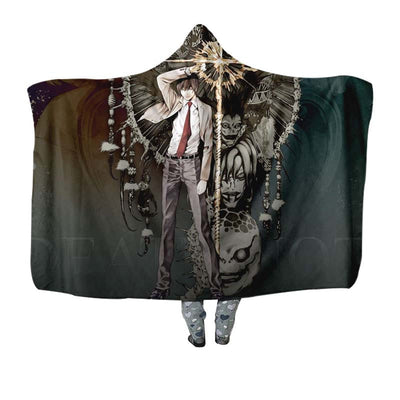 Light Yagami With Ryuk Rem & Other Shinigami Hooded Blanket - Death 3D Printed Hooded Blanket