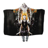 Misa & Ren Standing Infront Of A Cross Hooded Blanket - Death 3D Printed Hooded Blanket