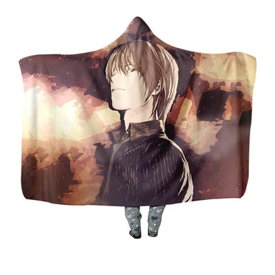 Light Yagami Hooded Blanket - Death 3D Printed Hooded Blanket
