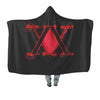 Hunter x Hunter Logo Red Hooded Blanket - Hunter x Hunter 3D Hooded Blanket