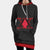 Hunter x Hunter Logo Red Hooded Dress - Hunter x Hunter 3D Printed Hoodie Dress