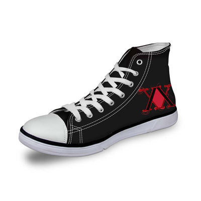 Hunter x Hunter Logo Red Shoes - Hunter x Hunter 3D Printed Shoes