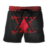 Hunter x Hunter Logo Red Short - Hunter x Hunter 3D Printed Short
