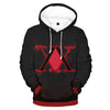 Hunter x Hunter Red Logo - Hunter x Hunter 3D Printed Hoodie