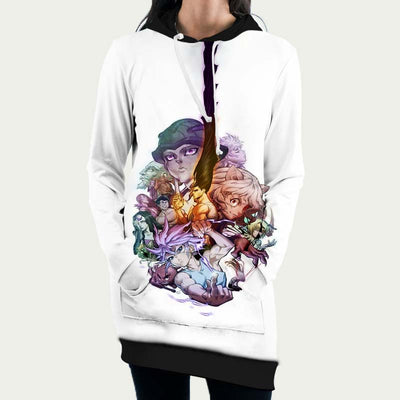HxH All Characters Hooded Dress - Hunter x Hunter 3D Printed Hoodie Dress