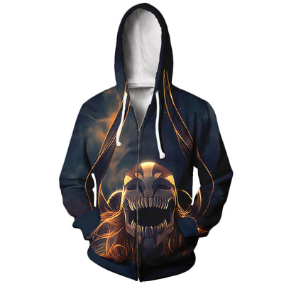 Ichigo 2nd Full Hollow Form Bleach Hoodie - Bleach 3D Printed Zip Hoodie