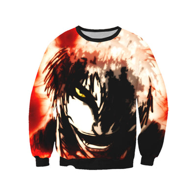 Ichigo Bankai Possessed Hollow Sweatshirt - Bleach 3D Printed Sweatshirt
