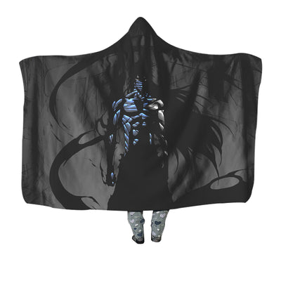 Ichigo Final Getsuga Tenshou Black Blanket - Bleach 3D Printed Hooded Blanket