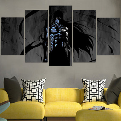 Ichigo Final Getsuga Tenshou Black Canvas - Bleach 3D Printed Canvas