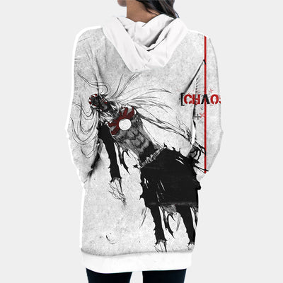Ichigo Hollow Hooded Dress - Bleach 3D Printed Hoodie Dress