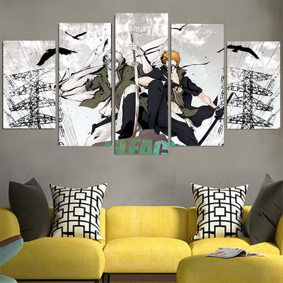 Ichigo & Hollow Ichigo Canvas - Bleach 3D Printed Canvas