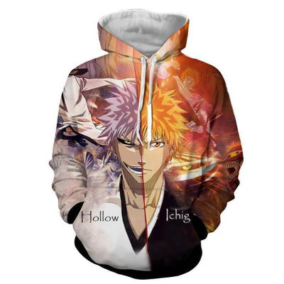 Bleach Ichigo vs White Zangetsu cool 3D Hoodie