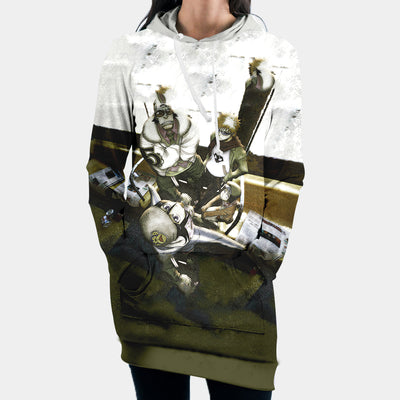 Ichigos Group Hooded Dress - Bleach 3D Printed Hoodie Dress