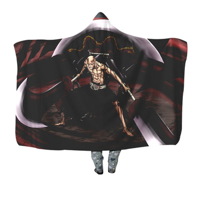 Ikkaku Madarame Red Blanket - Bleach 3D Printed Hooded Blanket